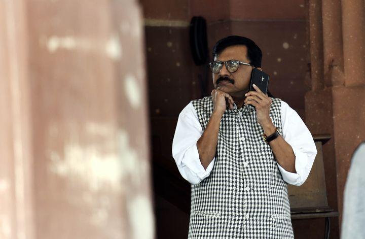 File image of Shiv Sena leader Sanjay Raut.