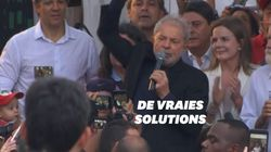À peine sorti de prison, Lula s'en prend à Bolsonaro devant des milliers de