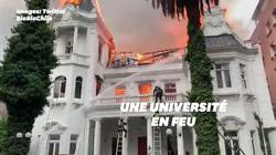 Une université incendiée à Santiago en marge d'une manifestation