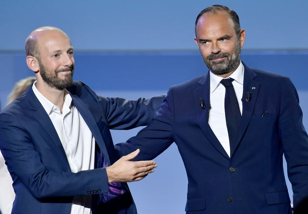 Le patron du parti LREM, Stanislas Guérini et le Premier ministre Edouard Philippe, en septembre
