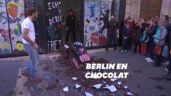 Ces Parisiens ont pu repartir avec un morceau de Mur de Berlin... en