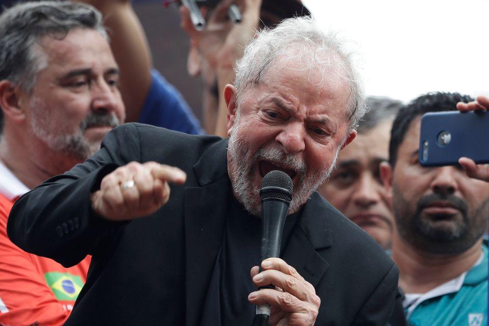 Lula, em seu 2º discurso em liberdade, em São Bernardo do Campo