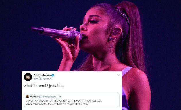 Ariana Grande apprend sa victoire aux NRJ Music Awards 2019 sur