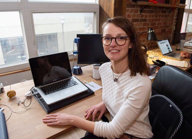 Emilie Dubois in her office on Nov. 8, 2019 in Quebec