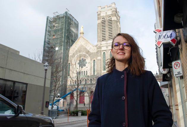 Emilie Dubois outside her office on Nov. 8, 2019 in Quebec