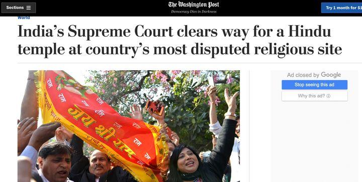 The Washington Post Ayodhya piece