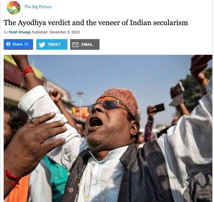 Dawn opinion piece on Ayodhya
