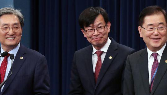 문재인 정권 임기 반환점, 청와대 실장들 기자회견