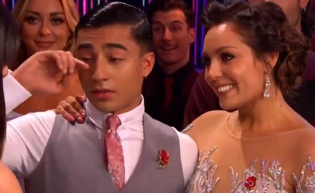 Karim Zeroual shed a tear on Saturday's Strictly Come