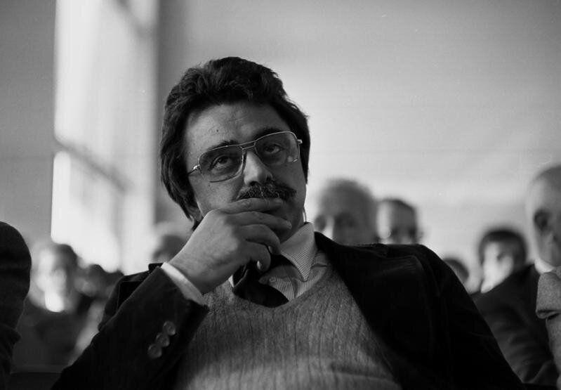 1975 Roma. Achille Occhetto ad un convegno del PCI (Partito Comunista