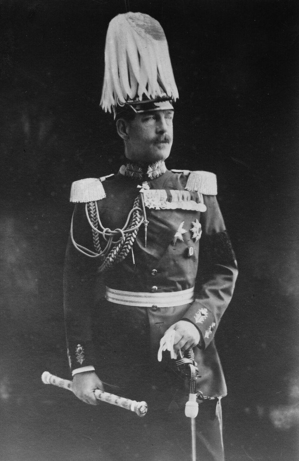 Ο Βασιλιάς Κωνσταντίνος με γερμανική στρατιωτική