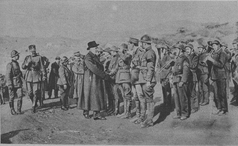 Ο Βενιζέλος επιθεωρεί το στράτευμα στο Μακεδονικό μέτωπο. 24 Δεκεμβρίου