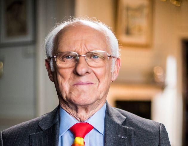 Dickie Arbiter, ancien attaché de presse de la Reine Elizabeth II jusqu'en