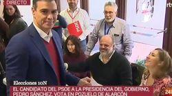 Cachondeo por un detalle en esta imagen de Pedro Sánchez votando: salta a la