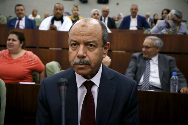 Belkacem Zeghmati Minister of Justice at the National People's Congress, in a vote for, the draft organic...