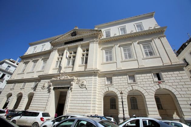 A general view of the Sidi M'Hamed Tribunal Court where businessmen suspected of corruption were...