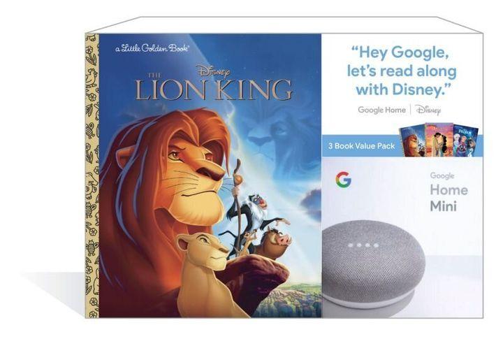 Google Home Mini + 3 Disney Little Golden Book