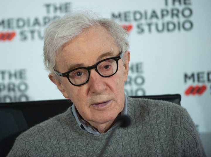 Woody Allen attends a press conference for his new film in San Sebastian, Spain, on July 9.