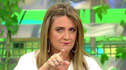 La reveladora camiseta con la que ha acudido a votar el 10-N Carlota Corredera, presentadora de