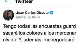 El tuit de Girauta sobre las encuestas que se le vuelve en contra cinco días
