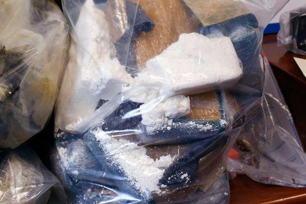 Photo d'illustration d'une saisie de cocaine das les locaux de la police à Paris en janvier