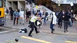 홍콩 경찰이 집회 참가자에 실탄 쏘는 모습이 생중계 됐다