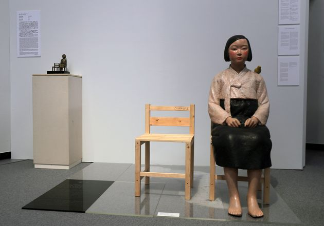 「表現の不自由展・その後」で展示されていた「平和の少女像」