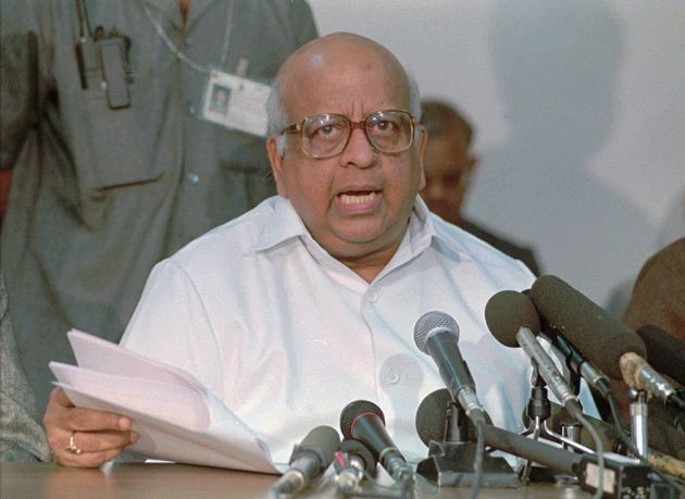 FILE - T.N. Seshan, India's chief election commissioner, announces the dates for India's general election...