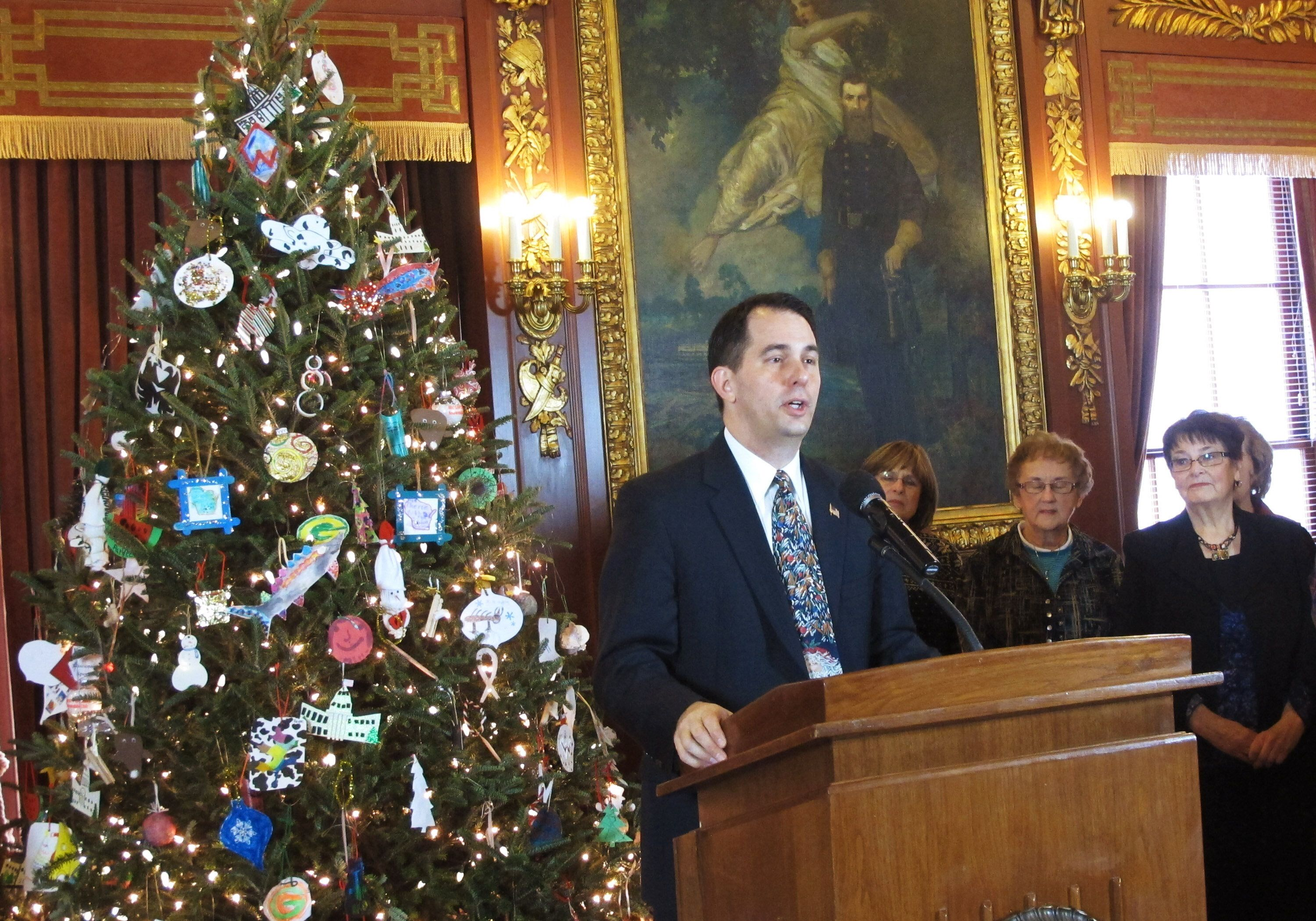 Scott Walker's War On Christmas Freakout Over Holiday Tree Backfires On Twitter