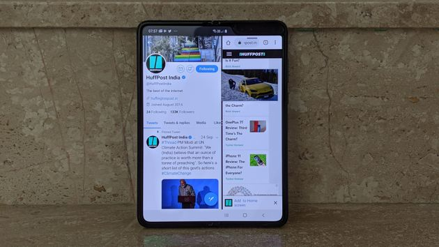 Multitasking on the Samsung Galaxy Fold is a lot better than it is on other phones, because of the large...
