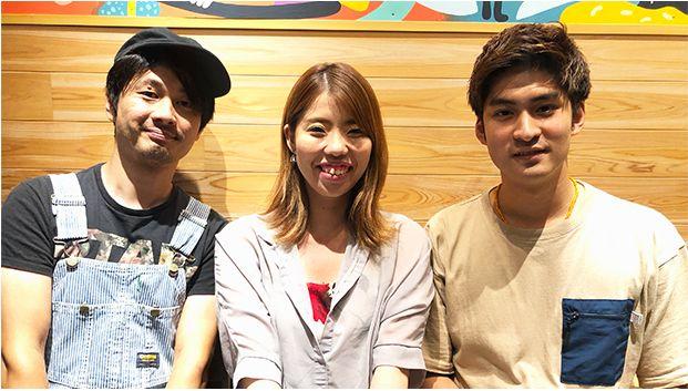 左から西坂さん、山本さん、ブローハンさん