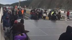 Tsunami Democràtic corta la frontera con Francia en La Jonquera