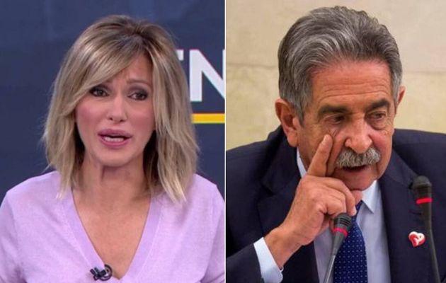 La presentadora Susanna Griso y el presidente cántabro, Miguel Ángel