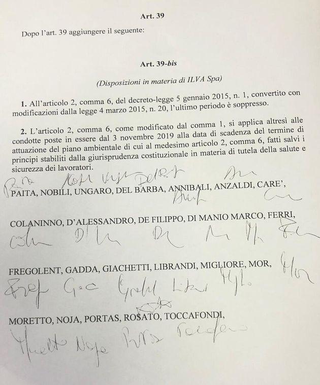 Emendamento scudo ex