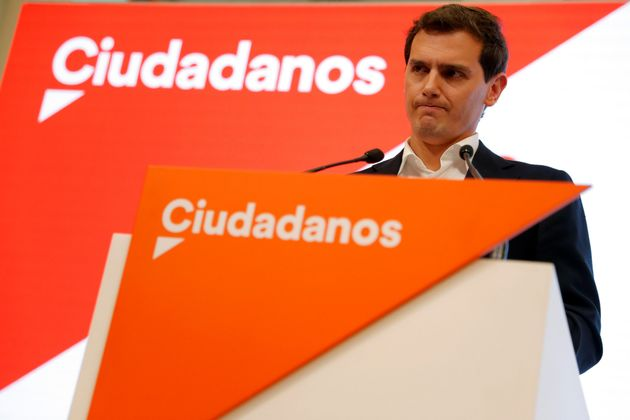 Rivera durante la rueda de prensa en la que ha anunciado su