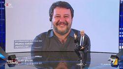 Giletti saluta in diretta la figlia di Salvini:
