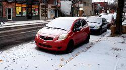 Une première bordée de neige hâtive au Québec et au