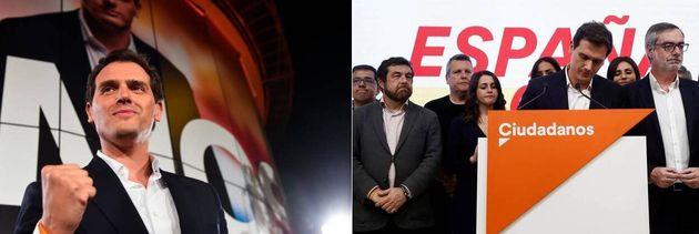 Rivera, tras las elecciones del 28 de abril... y Rivera, tras las elecciones del 10 de