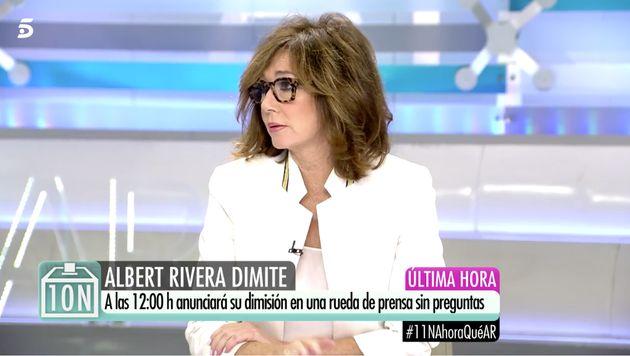 Ana Rosa Quintana, en su programa el 11 de noviembre de