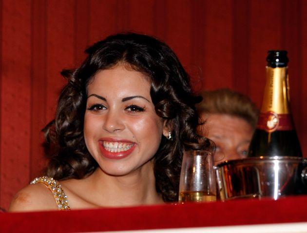 Karima el-Mahroug enjoys the traditional Opera Ball at the state opera in Vienna, Austria on Thursday,...