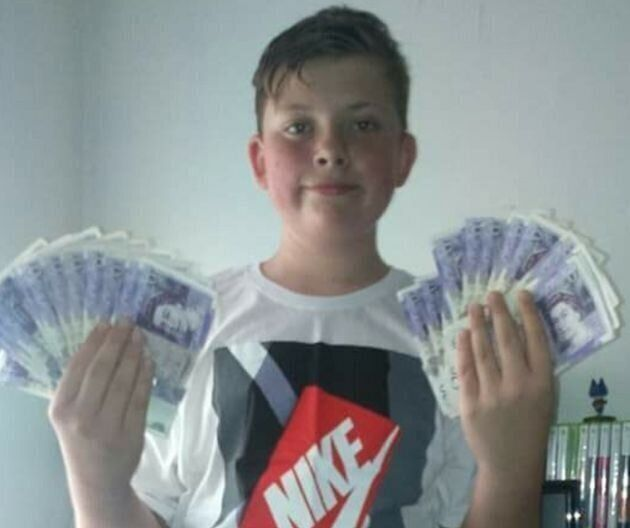 Blake Barrass, 14, was also strangled