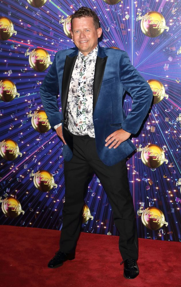 Mike at this year's Strictly red carpet