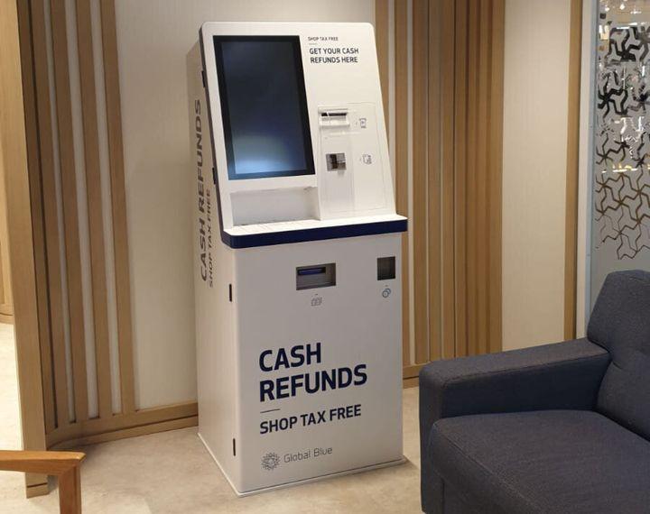 Cajero automático de devolución del IVA en el centro de El Corte Inglés de Paseo de la Castellana.