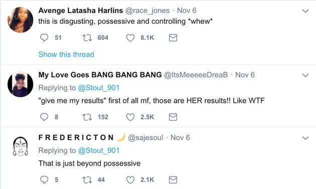 A series of tweets liked by Deyjah