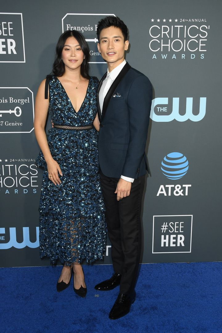 Dianne Doan and Manny Jacinto attend the 24th annual Critics' Choice Awards in January.