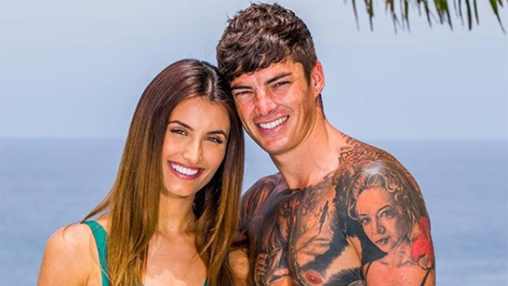 Love Island Australia contestants Cartier Surjan and Adam Farrugia.
