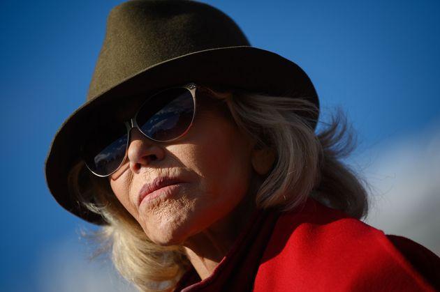 ジェーン・フォンダ ワシントンD.C.でのデモにて 2019年11月1日撮影