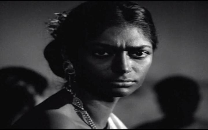 Simi Garewal in a scene from 'Aranyer Din Ratri'.