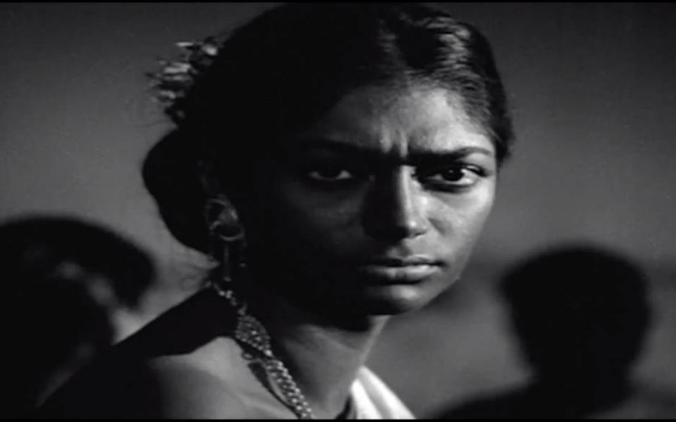 Simi Garewal in a scene from 'Aranyer Din