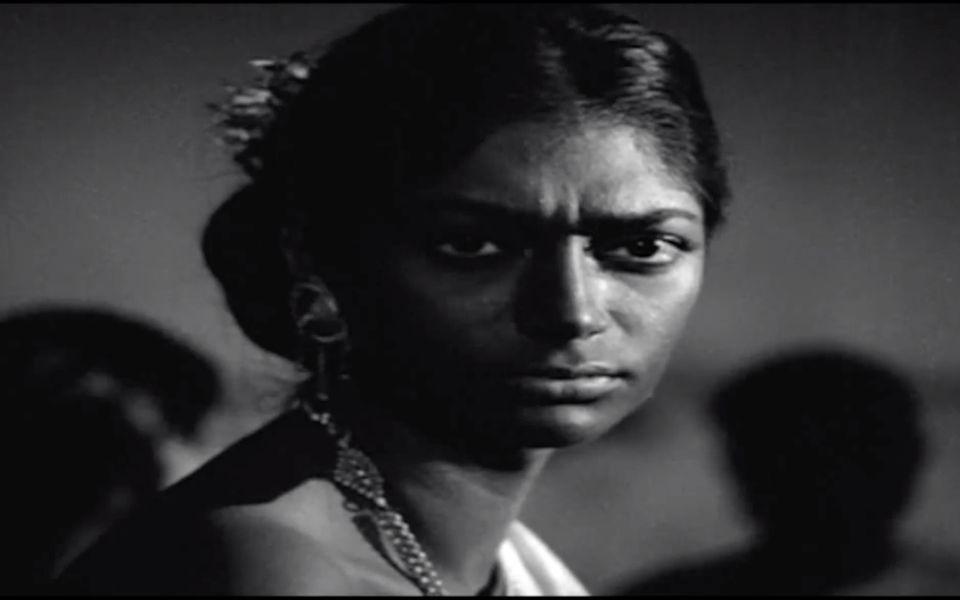 Simi Garewal in a scene from 'Aranyer Din